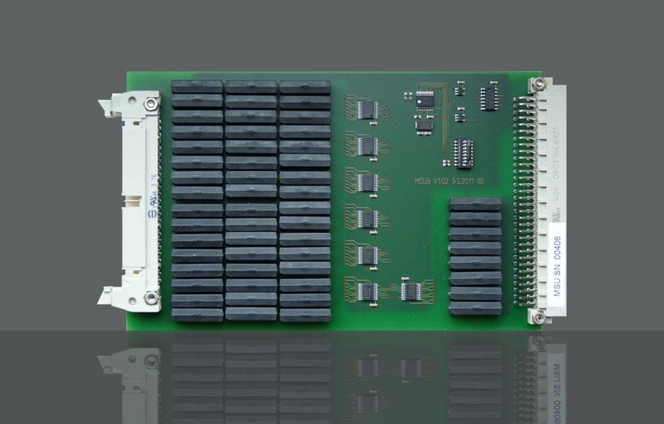 Relaismatrix bzw. Messstellenumschalter mit 48 Kanälen (MSU-Karte)