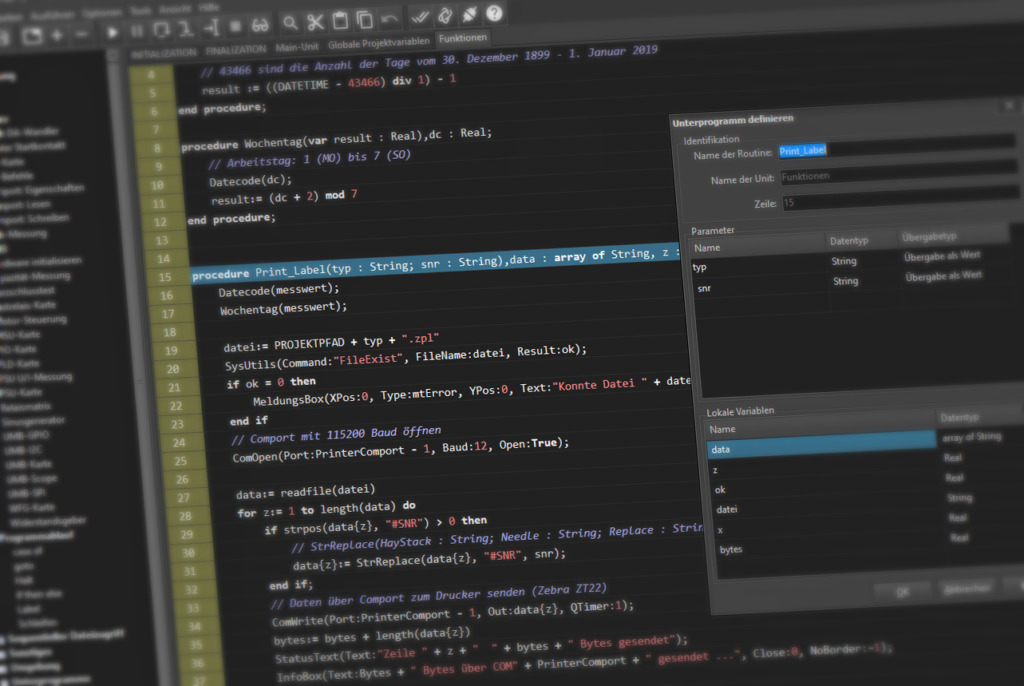 Test Software Engineering mit WinGuard