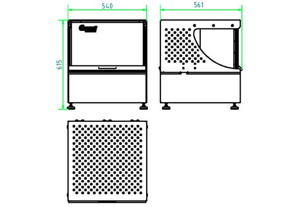 Torsions-Kabelprüfmaschine Typ 230: Torsionsprüfung für Kabel und Draht Abmessung