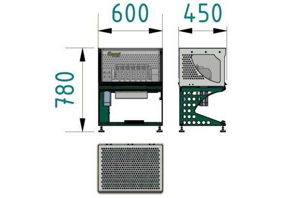 Biegewechselprüfmaschine Typ 101: Biegeprüfung für Kabel und Draht Abmessungen