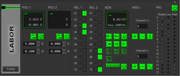 WinGuard Testsoftware: Screenshot Labor